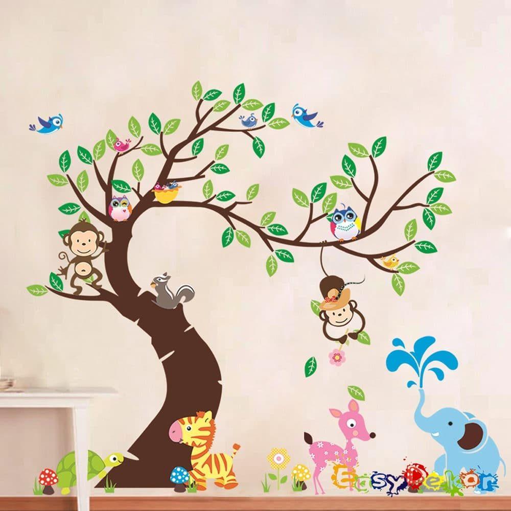 zebra_elefant_gyerekszoba_falmatrica_dekoracio